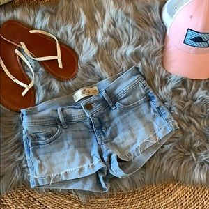 Hollister short-short jean denim shorts